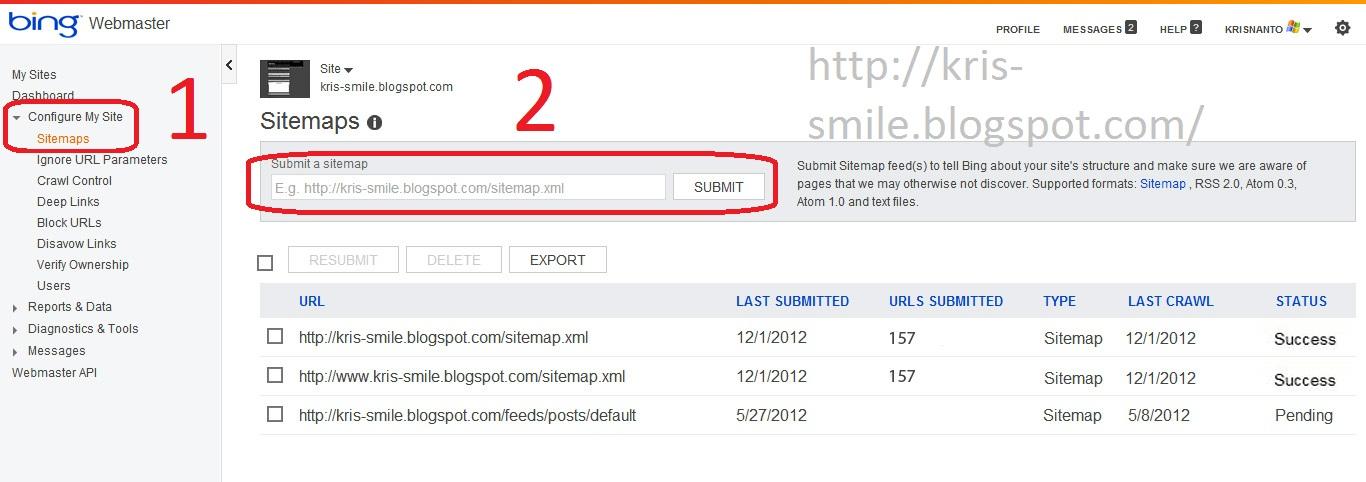 Cara Buat Sitemap Google & Bing Di Webmaster Tools Yang