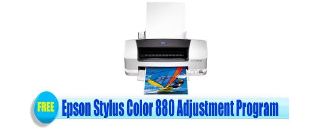 Epson Stylus Color 880 Adjustment Program