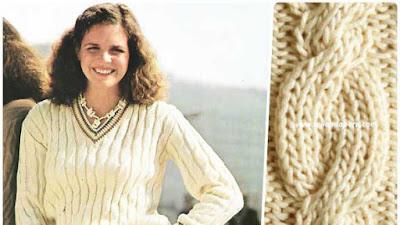 Tejer a tricot el pullover-jersey clasico de tenis