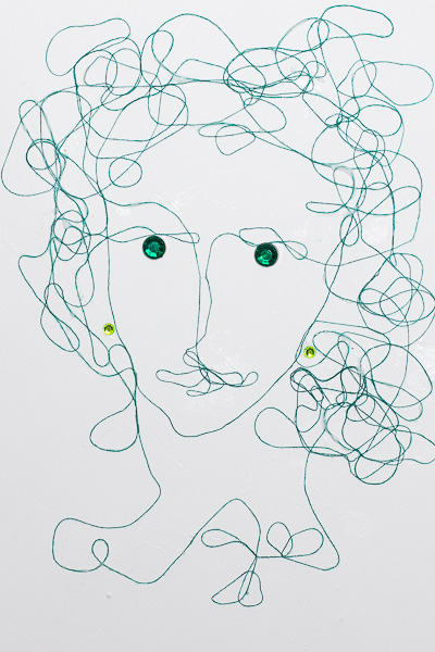 Woman with emerald eyes by Maria Potapovich (mellpellmell) using BoBunny Emerald Jewels