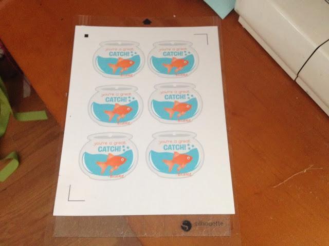 Print and cut, Silhouette, Silhouette tutorial, beginners, Silhouette Studio, cutting mat, fishbowl