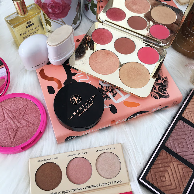 anastasia beverly hills, becca cosmetics, champagne pop, jaclyn hill, marc jacobs, makeup geek, jeffree star cosmetics