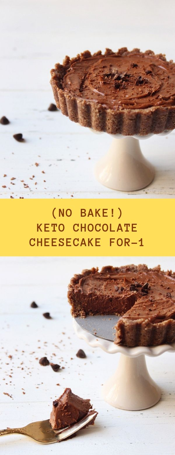 (No Bake!) Keto Chocolate Cheesecake For-1