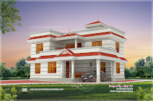 1990 Square Feet 4 Bhk House Elevation Design - Kerala