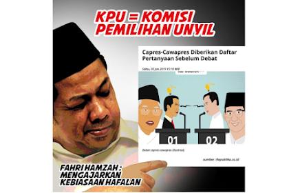 Fachri Hamzah: KPU = Komisi Pemilihan Unyil