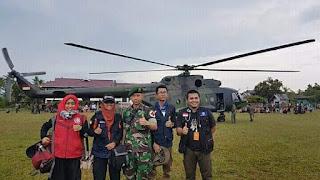 4 Dokter MDMC Kunjungi Lokasi Parah di Palu Dengan Helikopter