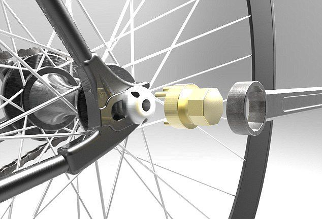 The world's first self-locking anti-theft vehicles bicycle