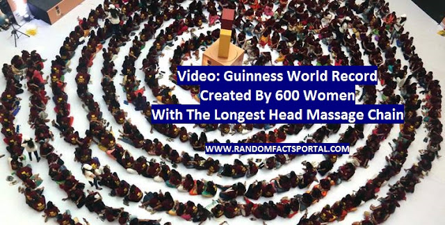 Video: Guinness World Record Created By 600 Women With The Longest Head Massage Chain
