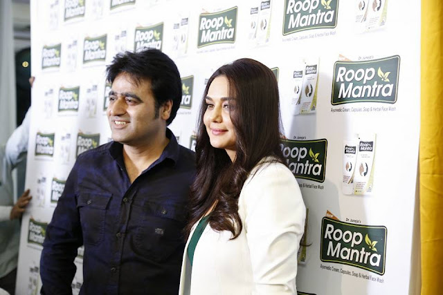 Owner of Roop Mantra Mr. Sanjeev Juneja with Preity Zinta