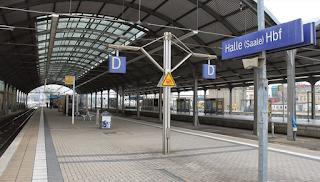Вокзал в немецком Галле