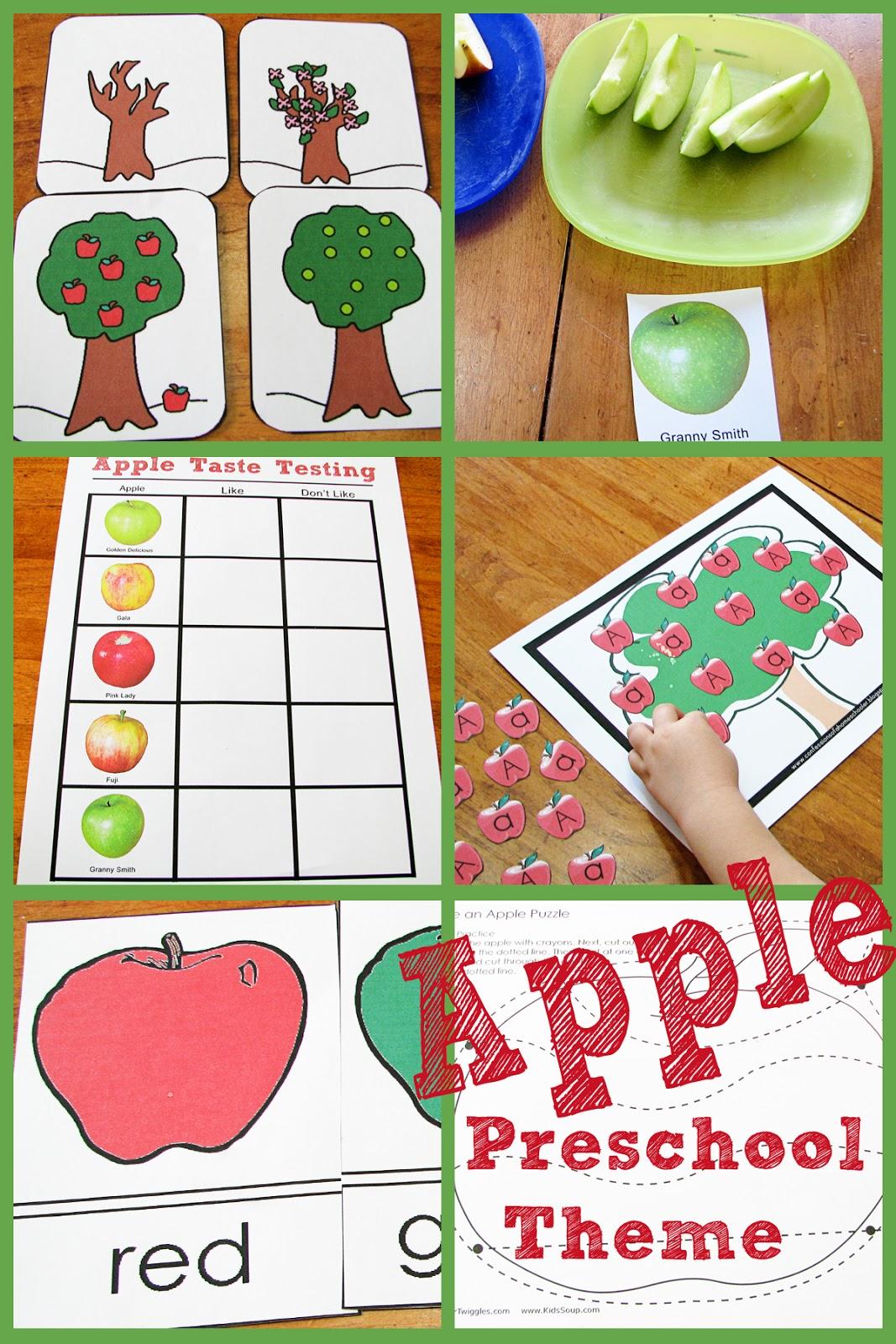 Mommy's Little Helper: Apple Preschool Theme