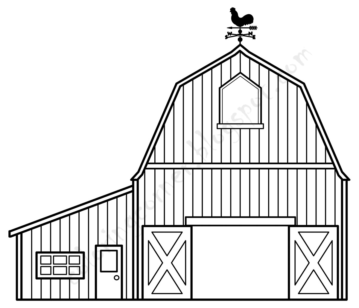 barn pictures to coloring pages - photo#2