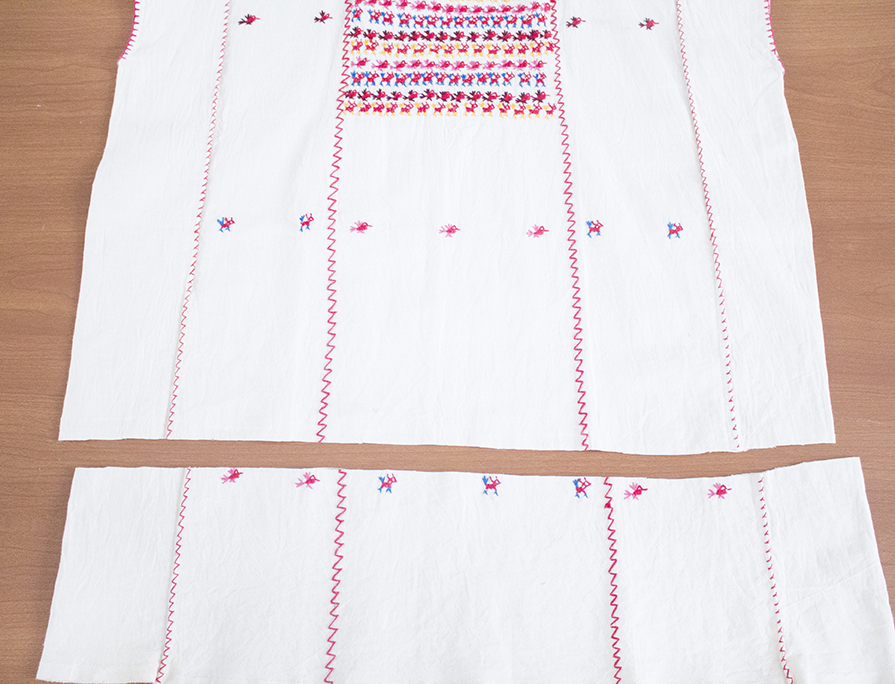 craft challenge faux embroidery tutorial refashion