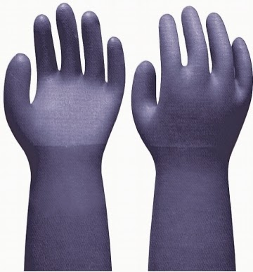 "18"" PVC COATED GLOVES"