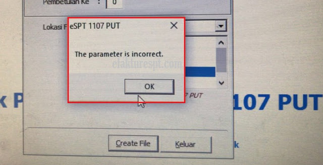 Buat File CSV Error The Parameter Is Incorrect