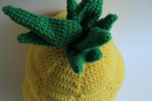 Haken, kussen, ananas, gratis patroon