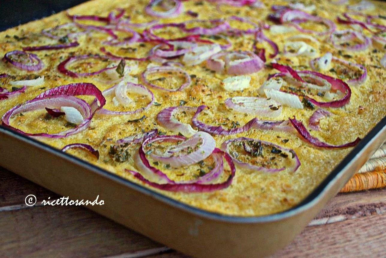 Farinata genovese con cipolle di tropea e origano ricetta oiginale