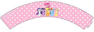 Wrappers para Cupcake para Imprimir Gratis de My Little Pony.