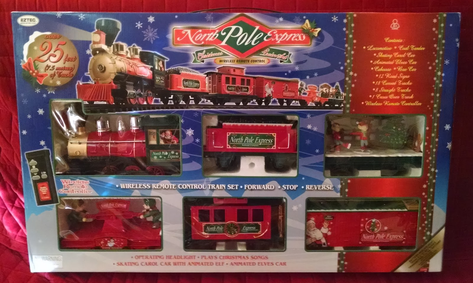 North Pole Christmas Train Set Battery Operated