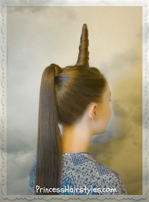 Unicorn Hairstyle Tutorial #halloweenhairstyles #halloween #crazyhairday