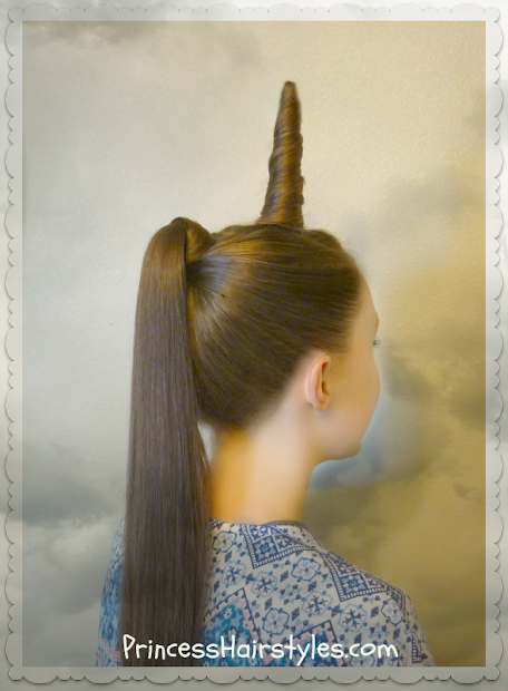 unicorn hairstyle halloween