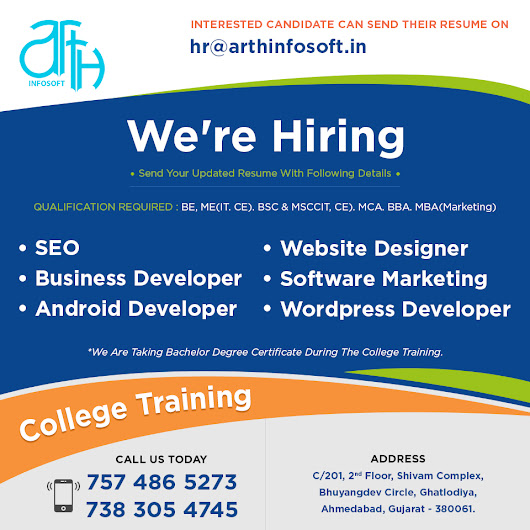 Free College Training or Internship in Ahmedabad