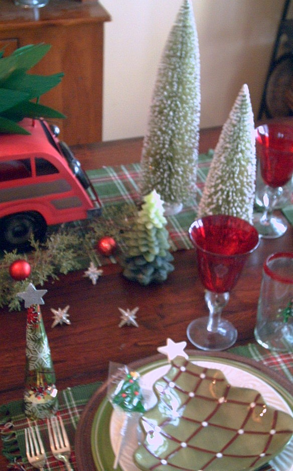 Pier One Dining Chair Desk In Kitchen Candlelight Supper: Vintage Christmas Tree Tablescape