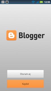 Blogger Giriş Ekranı