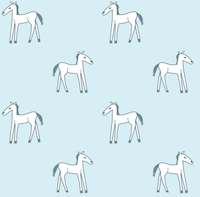 free printable horse doodle pattern blue