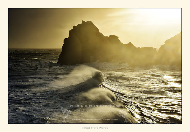 Storm Frank at Kynance Cove, from Wild Light Cornwall Photography Workshop, January 2016.