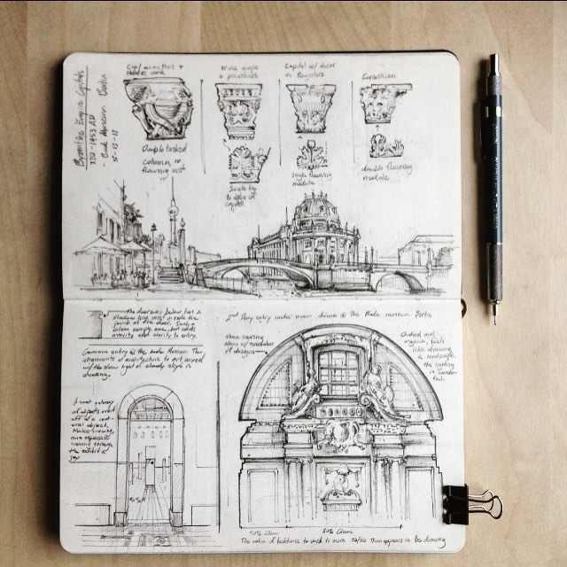 08-Bode-Museum-in-Berlin-Jerome-Tryon-Observations-and-Ideas-in-Moleskine-Drawings-www-designstack-co