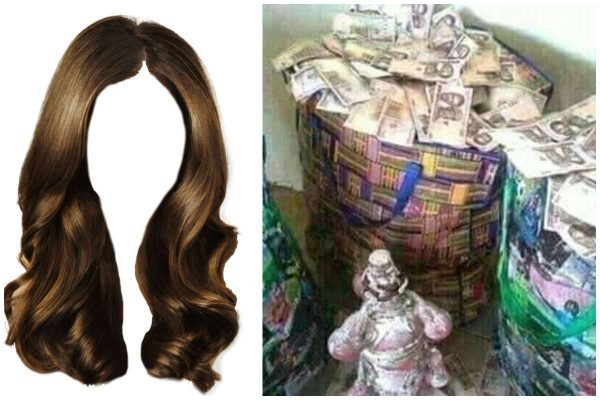 Women's natural hair allegedly used for rituals