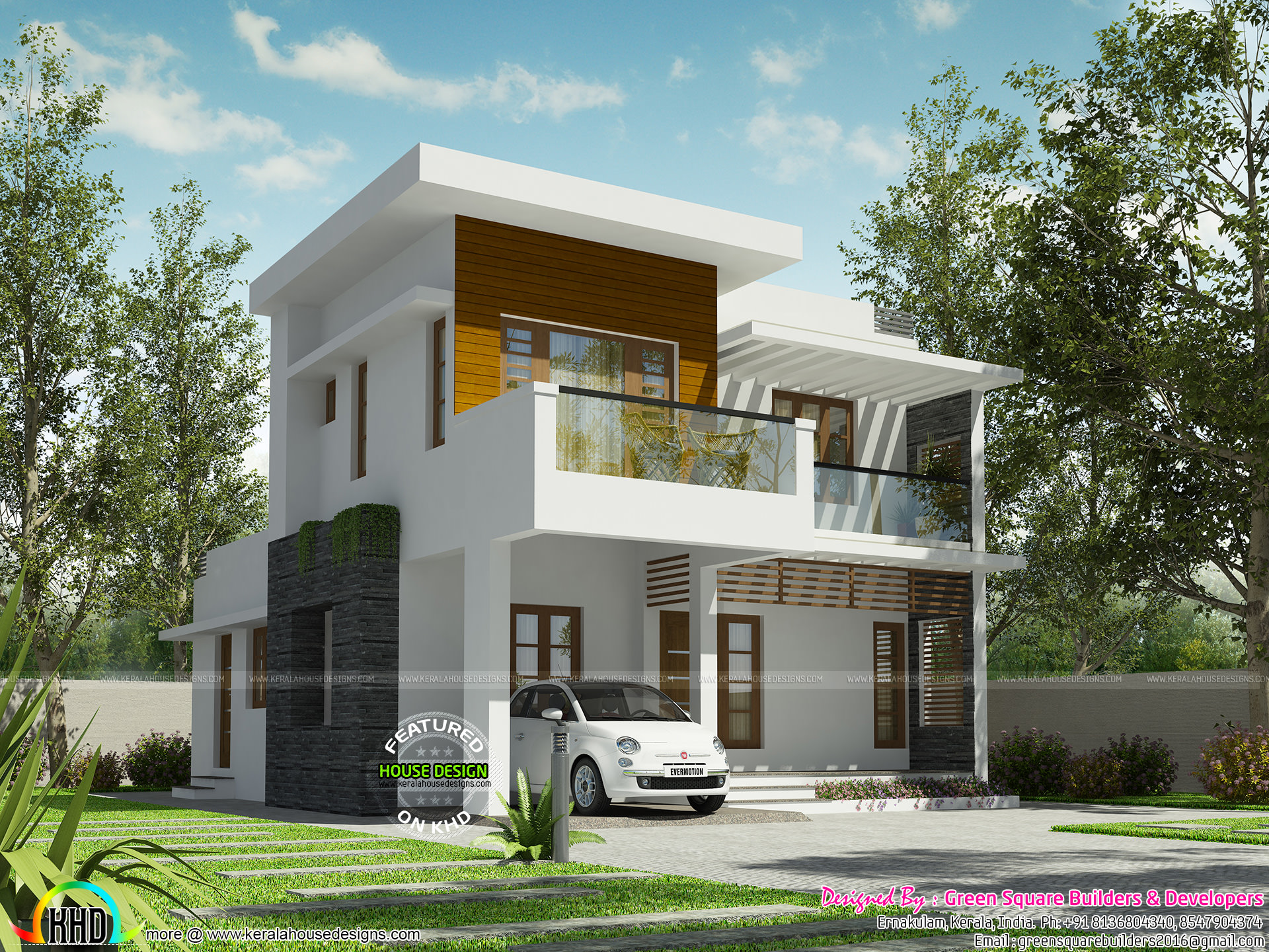 32 lakh cost estimated modern house Kerala home design