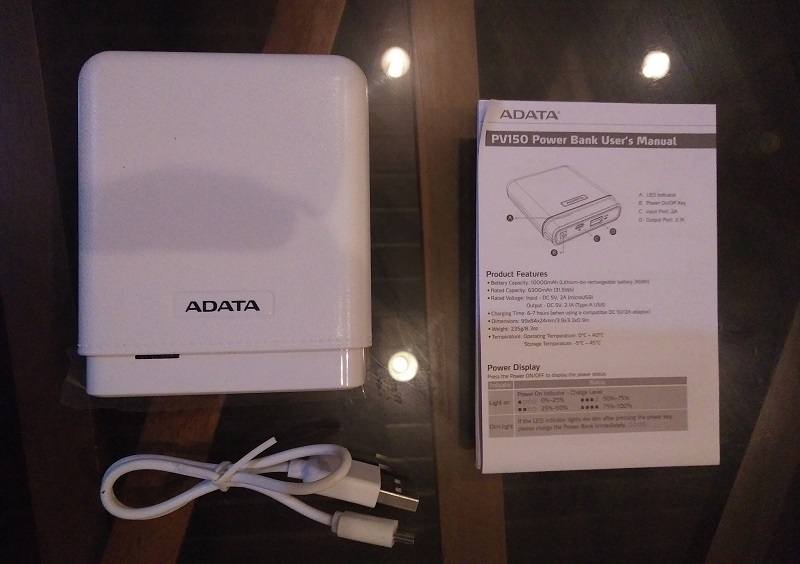 ADATA PV150 Power Bank Retail Package