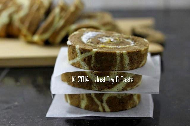 Swiss Roll Cake Motif Jerapah atau Benang Kusut  Just