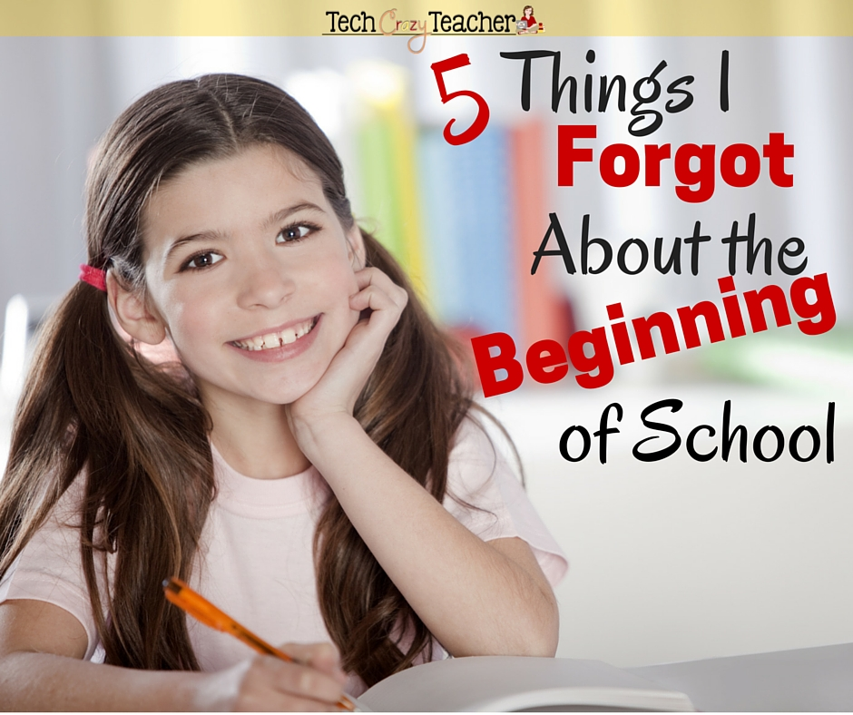 It's back to school time! Here are 5 things that I forgot about the beginning of school. Number 2 is a doozy!