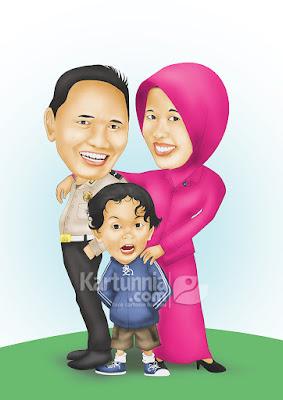 Karikatur Keluarga Polisi dan Bhayangkari