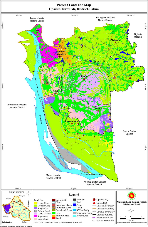 Ishwardi Upazila Mouza Map Pabna District Bangladesh