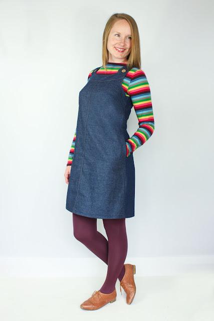 Introducing The Ivy Pinafore Dress Sewing Pattern | Jennifer Lauren ...
