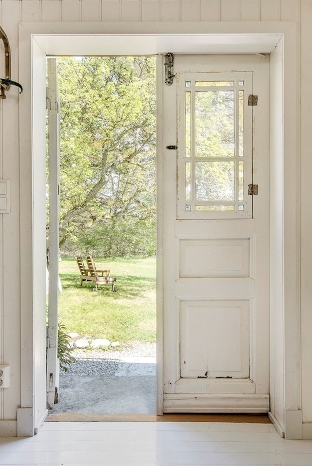 My scandinavian home the swedish island home of a fashion for Scandinavian style doors