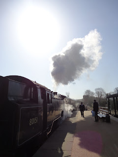 Steam train on Bluebell Railway
