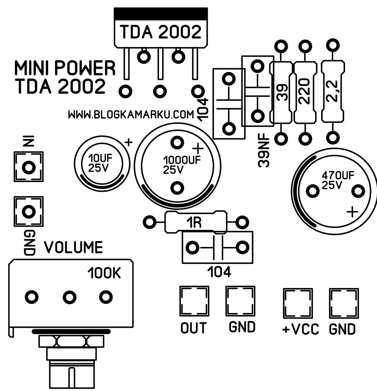Power mini lifier tda 2002