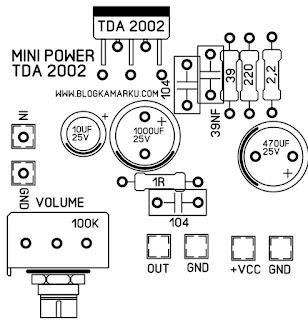 Power Mini amplifier TDA 2002