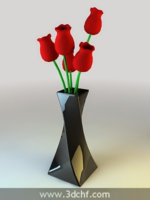 vase flower decoration 3ds max model