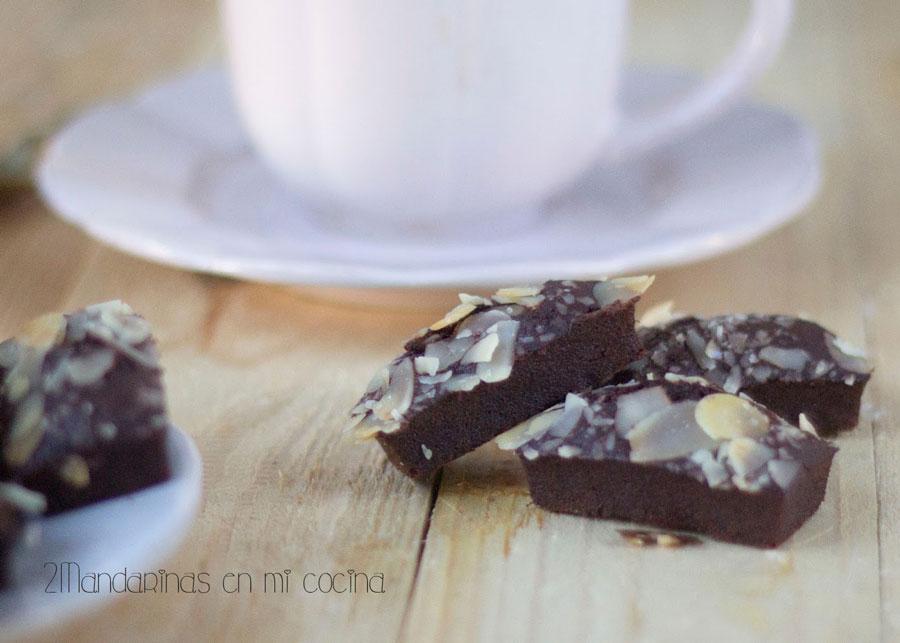 como preparar financiers de chocolate con almendras