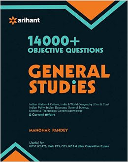 Download Free 14000 Objective Questions General Studies by Manohar Pandey Book PDF