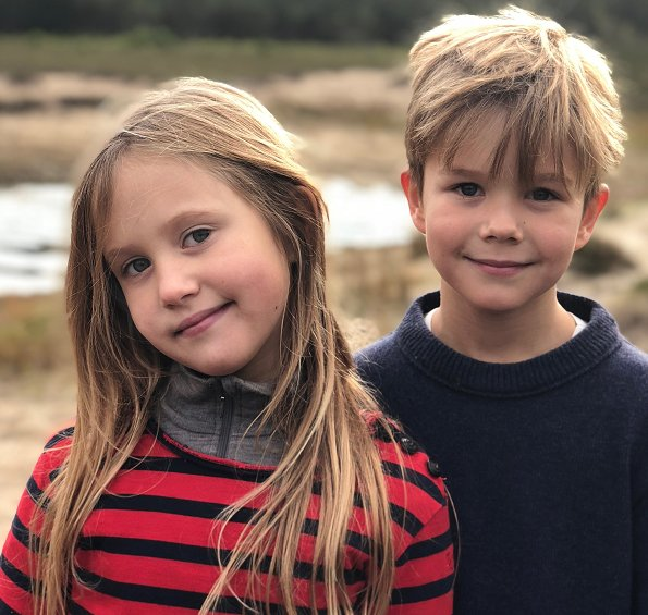 Crown Prince Frederik and Crown Princess Mary's twins, Prince Vincent and Princess Josephine celebrate their eighth birthday