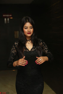 Actress Monica in spicy transparent Black Top at O Pilla Nee Valla Movie Audio Launch Feb 2017 164.JPG