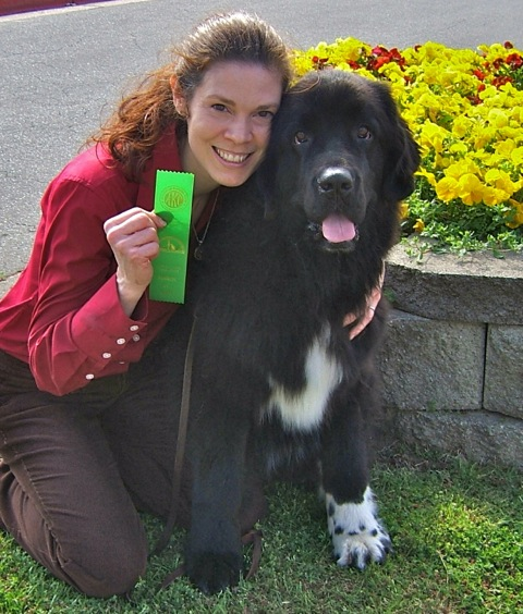 That S Me Charity Dennington With 4 Year Old Newfoundland Dog Katie On The Day She First Qualified In Advanced Rally Obence
