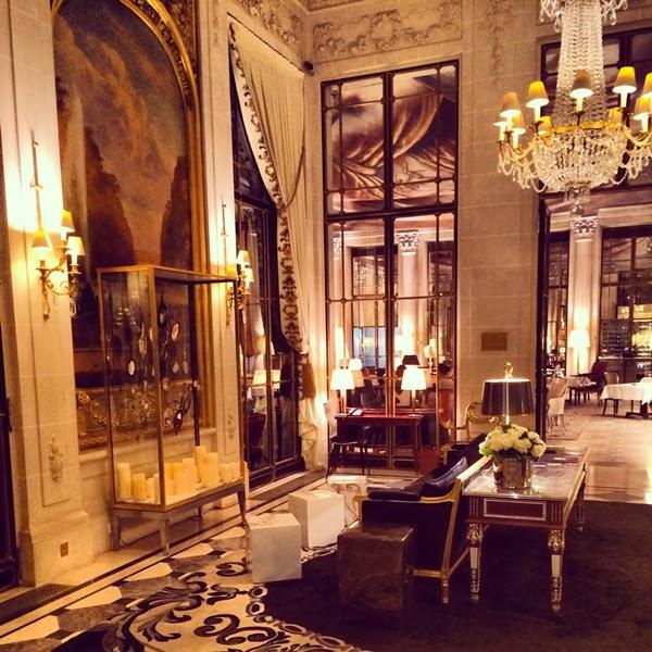 Le Meurice Hotel reception in Paris
